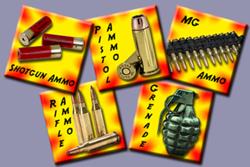 """1"""" Assorted Ammo Game Counters"""