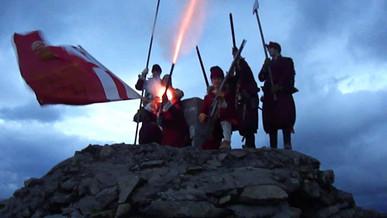 Firing on top of Ben Nevis