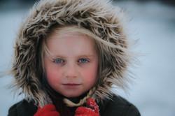 Girl in snow