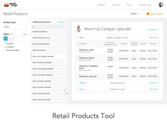 COMING SOON: Retail Products Tool