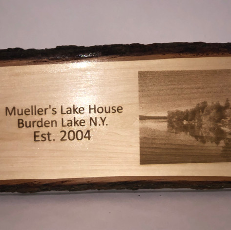 Laser Engraved photo and text