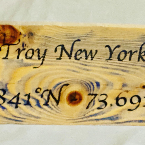 Location Sign on reclaimed wood 6X16
