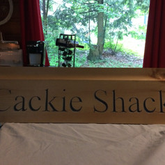 Camp sign owner supplied wood