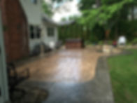 Stamped concrete sealing Albany NY