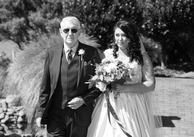 Bride and Father Walking To Ceremony