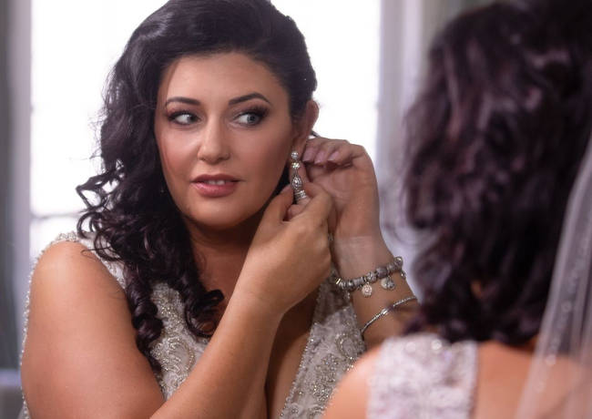 Bride and Earings