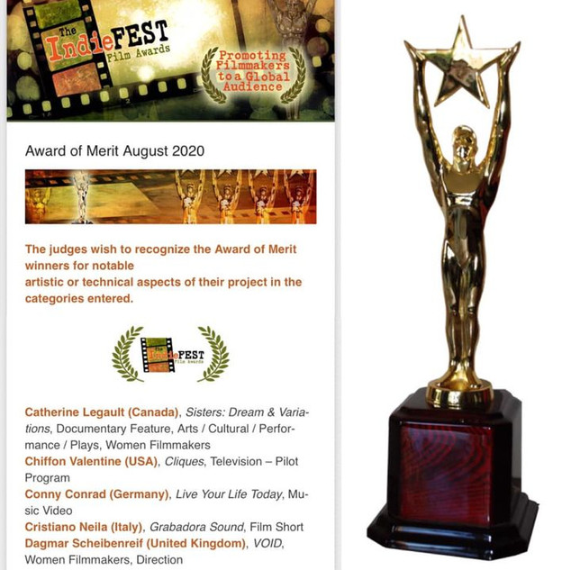 Indie Film Fest Award - Announcement