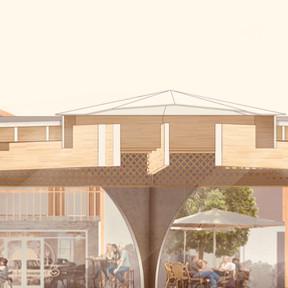 Construction d'une Halle Place de la Gaîté à Lacanau Baudrimont Benais Architectes AssociésConstruction d'une Halle Place de la Gaîté à Lacanau Baudrimont Benais Architectes Associés