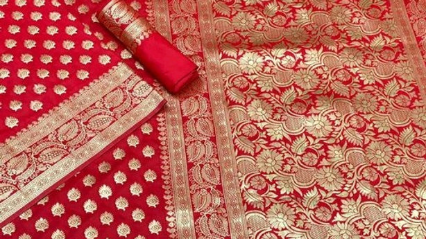 Abhisarika Fashionable Sarees Banarasi Silk with Separate Blouse Piece