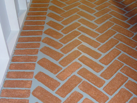 Faux Bricks on Concrete Floors