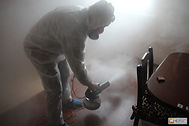 Действие горячего тумана на клопов.