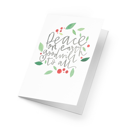 Single Christmas Card (Choose from 5 Designs)