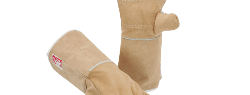Heat Resistant Leather Welding Gloves GL01-017