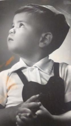 Marco Padilha aos 4 anos.