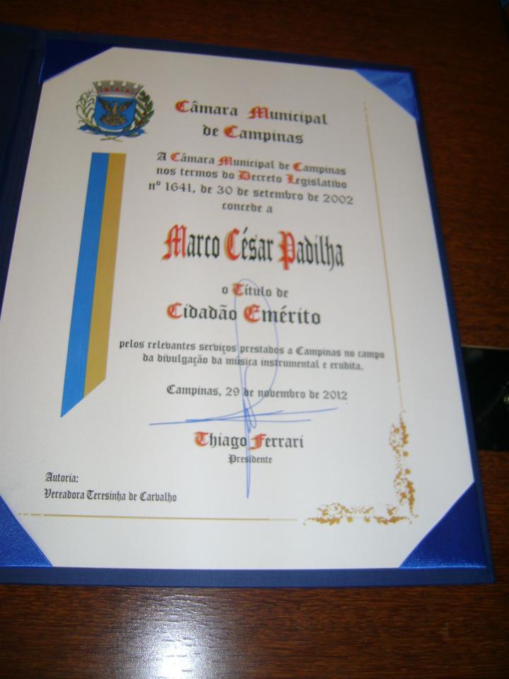 Titulo de Cidadão Emérito