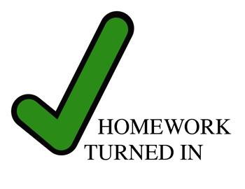 homework turned in, homework check, check homework