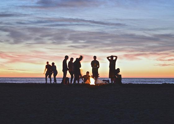Bonfire on the Cape Cod National Seashore