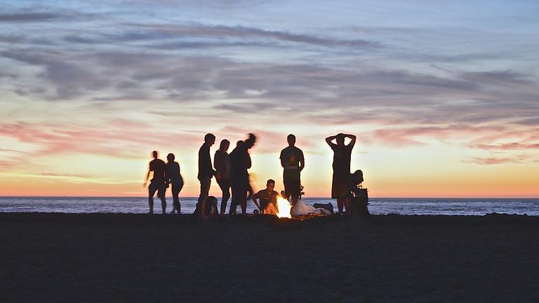 Church Family Beach Bonfire