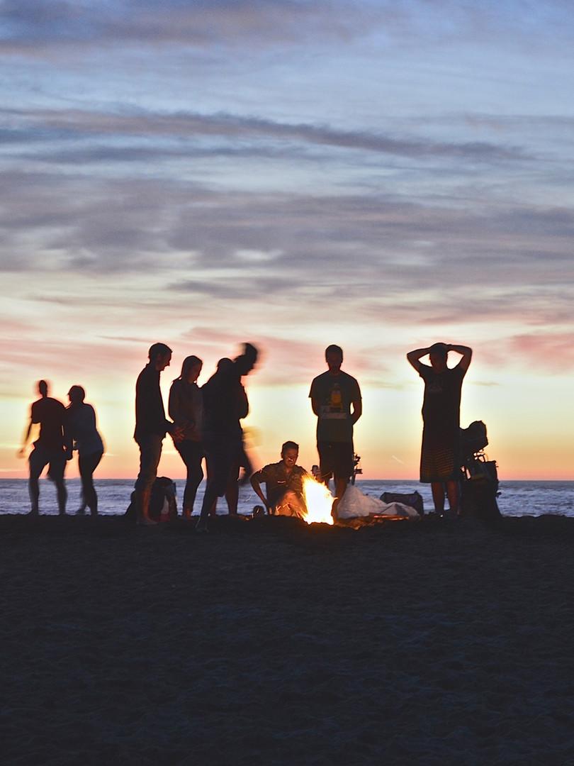 ビーチでキャンプ