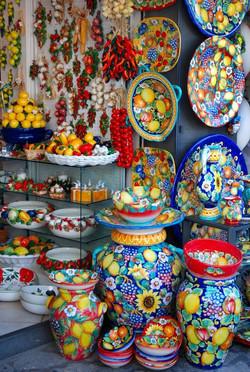 Ceramics in Capri Island, Campania_