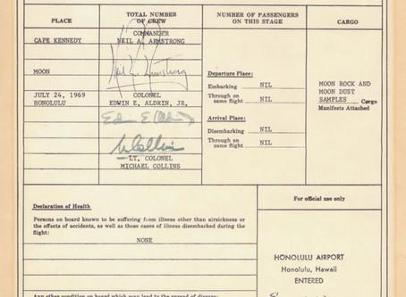 Moon Astronauts must go through customs!