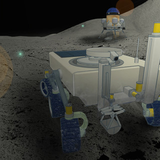 MoonPIE rover and primary module moon