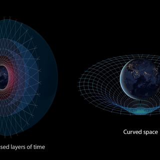 Compressed Layers of Time vs Curved Space