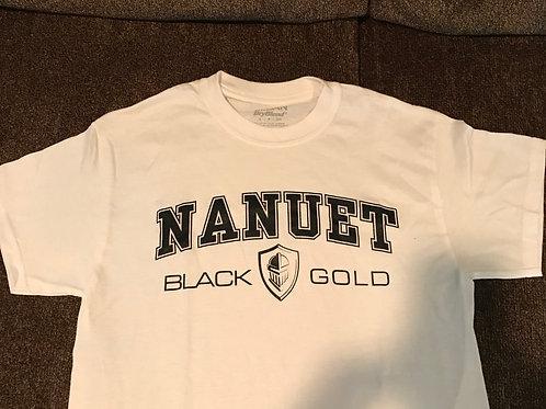 Black & Gold T-Shirt (White)