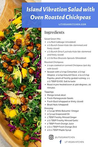 Island Vibration Salad + Oven Roasted Ch