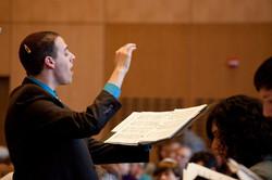 Conducting at Temple Beth Elohim