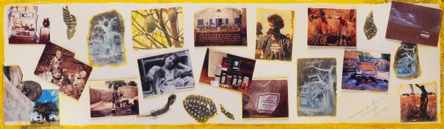 4. Erinnerungen an Afrika. Fotos und Zeichnungen. 65x20cm