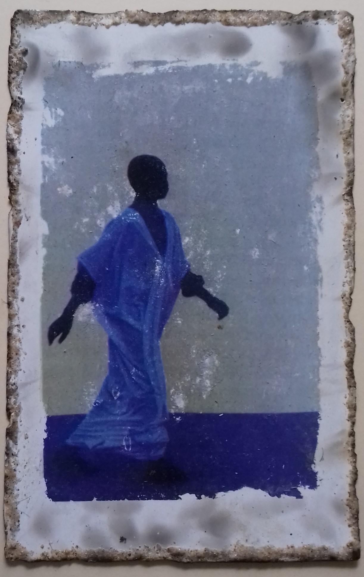 9. Blaues Kind. Fototransfer. 30x25cm