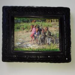 10. Spielende Kinder. Fototransfer. 15x12cm