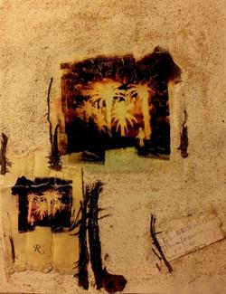 34. Inszenierung zweier Fotos von R. Watson. 40/30 cm.