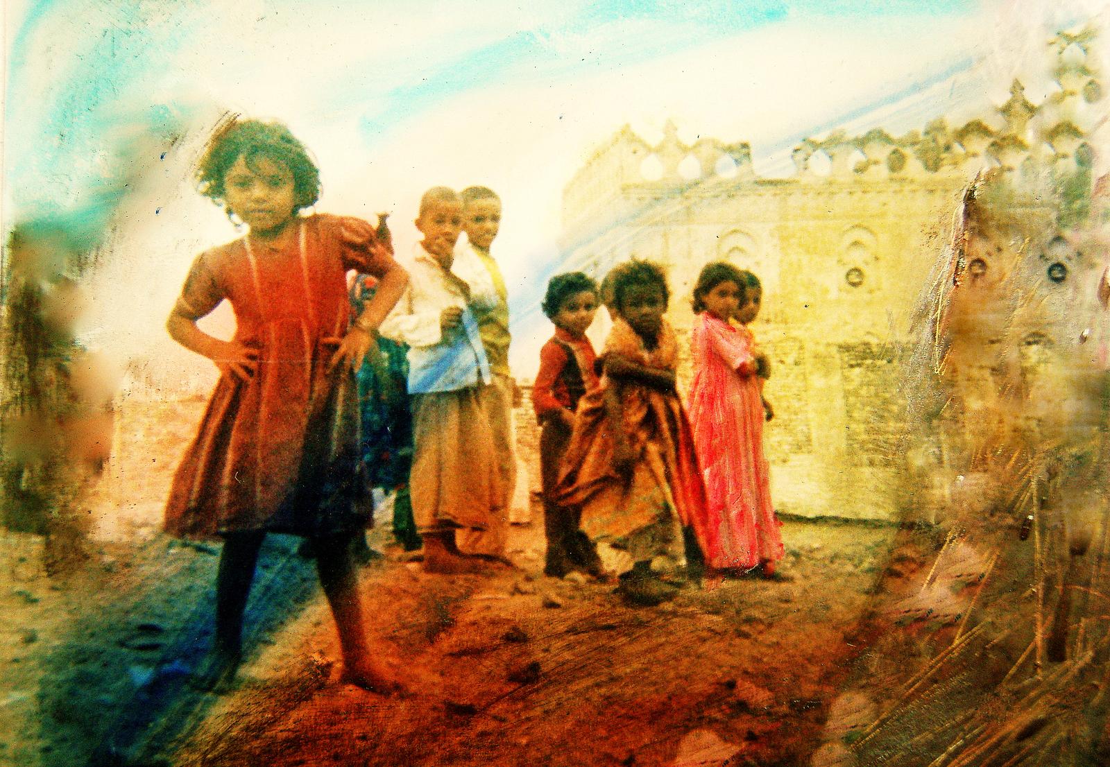 Niños yemeníes. 1987. Foto