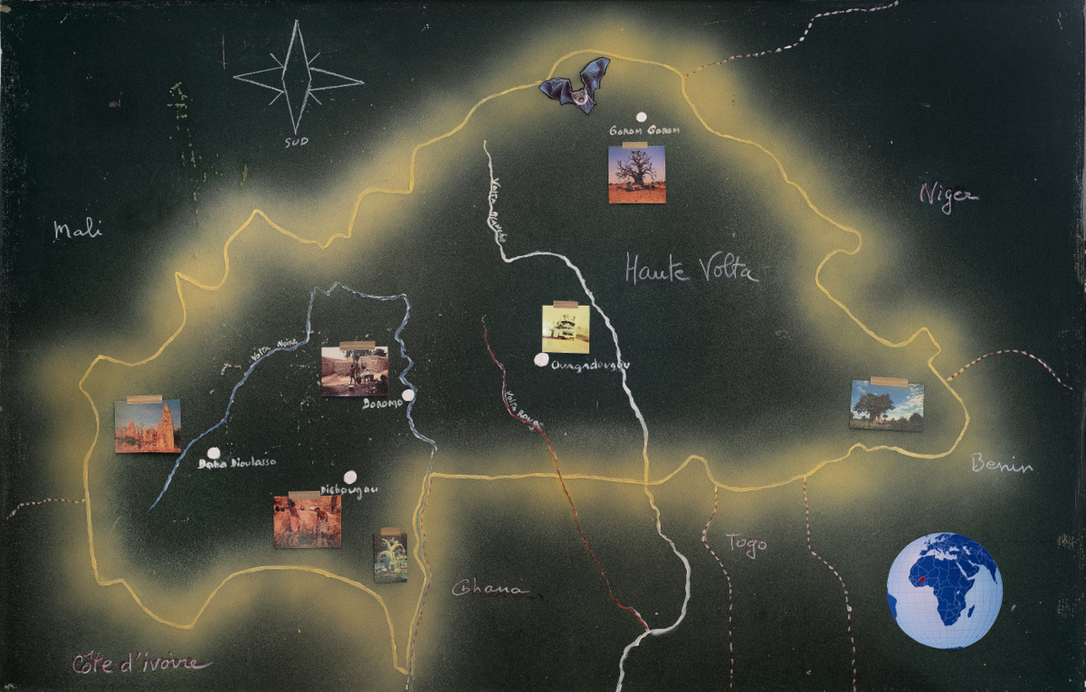 36. Geographieunterricht. Klasse Tafel. 95x60cm