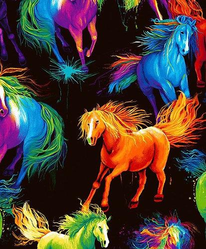 Vivid horse mane martingale