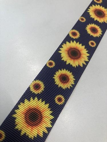 Navy sunflowers collar
