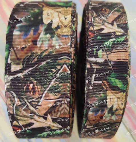 """2"""" camo martingale and 1"""" camo embroidered tag with hi res orange thread"""