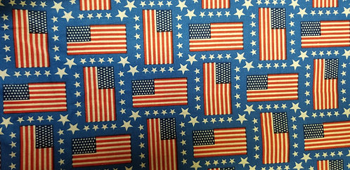 American Flags with stars Martingale