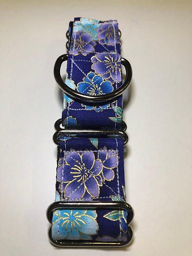Purple Floral Print Martingale