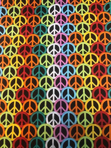 Peace sign collar