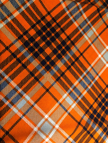 Orange and blue plaid martingale