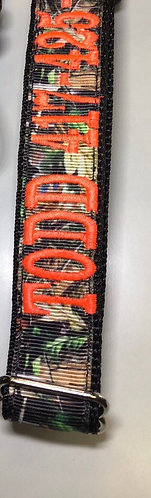 "1"" Camo tag collar with embroidery"