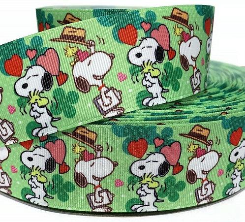 Snoopy St Patrick's collar