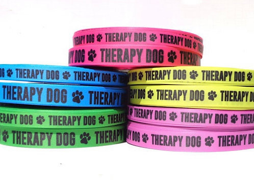 """1"""" therapy dog collar"""