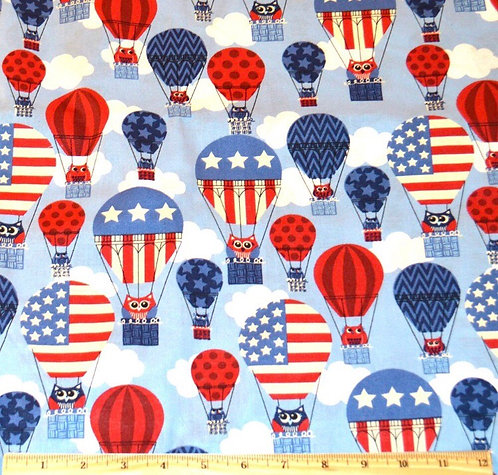 4th of July hot air balloon Martingale
