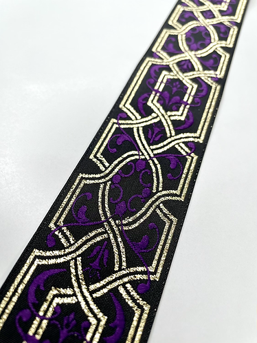 Purple gold and black fancy collar