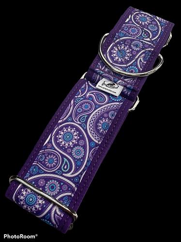 Fancy Purple Paisley Martingale
