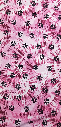 Pink Tie Dyed Dog Prints Martingale